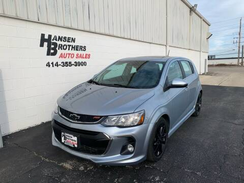 2018 Chevrolet Sonic for sale at HANSEN BROTHERS AUTO SALES in Milwaukee WI