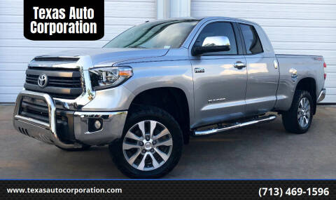 2014 Toyota Tundra for sale at Texas Auto Corporation in Houston TX