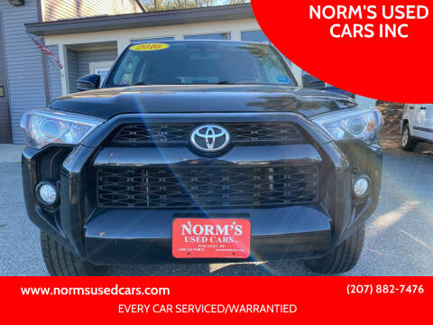 2016 Toyota 4Runner for sale at NORM'S USED CARS INC in Wiscasset ME