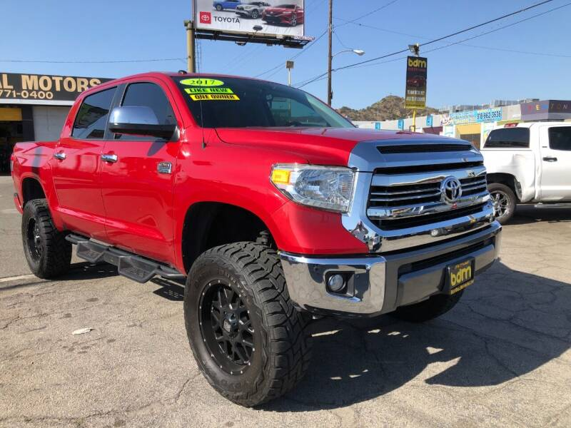 2017 Toyota Tundra for sale at BEST DEAL MOTORS  INC. CARS AND TRUCKS FOR SALE in Sun Valley CA