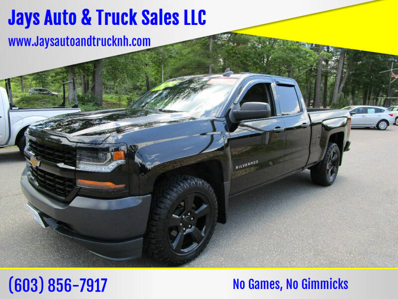 2016 Chevrolet Silverado 1500 for sale at Jays Auto & Truck Sales LLC in Loudon NH
