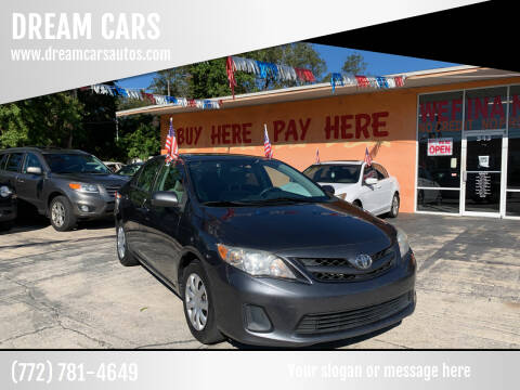 2013 Toyota Corolla for sale at DREAM CARS in Stuart FL