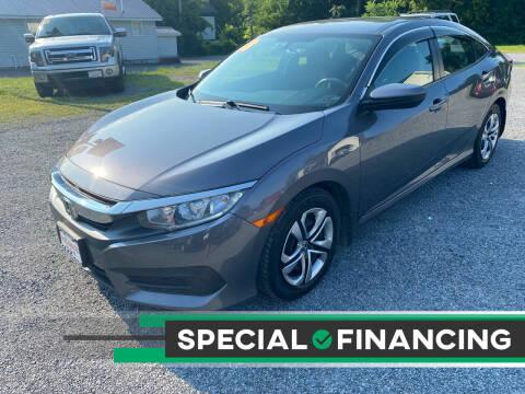 2018 Honda Civic for sale at Evia Auto Sales Inc. in Glens Falls NY