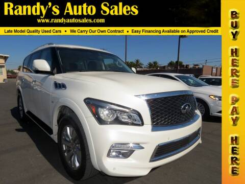 2017 Infiniti QX80 for sale at Randy's Auto Sales in Ontario CA