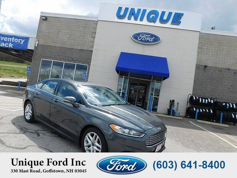 2015 Ford Fusion for sale at Unique Motors of Chicopee - Unique Ford in Goffstown NH