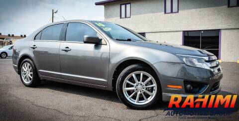 2010 Ford Fusion for sale at Rahimi Automotive Group in Yuma AZ