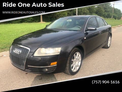 2005 Audi A6 for sale at Ride One Auto Sales in Norfolk VA