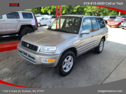 1999 Toyota RAV4 for sale at CRAIGE MOTOR CO in Durham NC