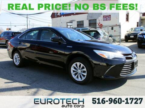 2015 Toyota Camry Hybrid for sale at EUROTECH AUTO CORP in Island Park NY