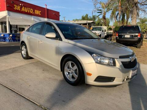 2014 Chevrolet Cruze for sale at 3K Auto in Escondido CA