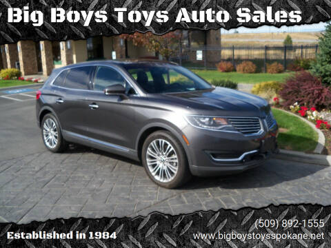 2017 Lincoln MKX for sale at Big Boys Toys Auto Sales in Spokane Valley WA