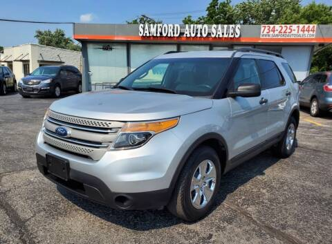 2014 Ford Explorer for sale at Samford Auto Sales in Riverview MI