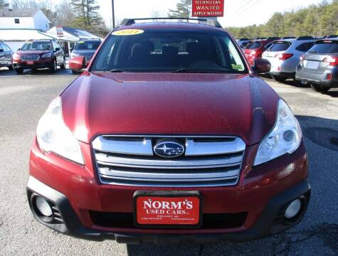 2014 Subaru Outback for sale at NORM'S USED CARS INC in Wiscasset ME