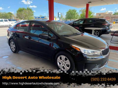 2017 Kia Forte for sale at High Desert Auto Wholesale in Albuquerque NM