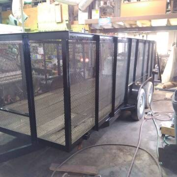 CAGED TRAILER for sale at BENHAM AUTO INC - Peace of Mind Treasures and More Store in Lubbock TX