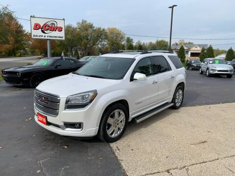 2016 GMC Acadia for sale at D-Cars LLC in Zeeland MI