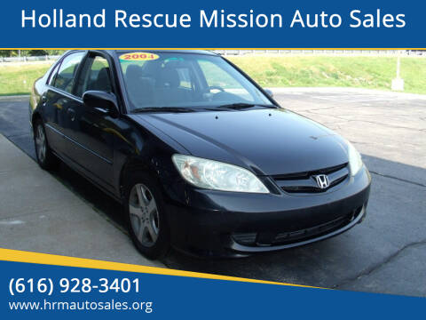 2004 Honda Civic for sale at Holland Rescue Mission Auto Sales in Holland MI