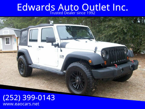 2011 Jeep Wrangler Unlimited for sale at Edwards Auto Outlet Inc. in Wilson NC