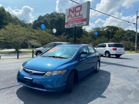 2007 Honda Civic for sale at No Full Coverage Auto Sales in Austell GA