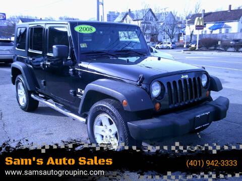 2008 Jeep Wrangler Unlimited for sale at Sam's Auto Sales in Cranston RI