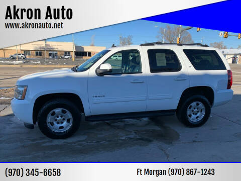 2014 Chevrolet Tahoe for sale at Akron Auto - Fort Morgan in Fort Morgan CO