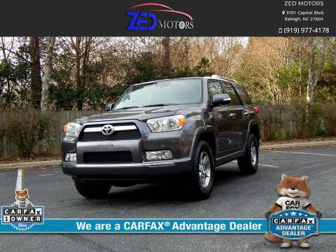 2012 Toyota 4Runner for sale at Zed Motors in Raleigh NC