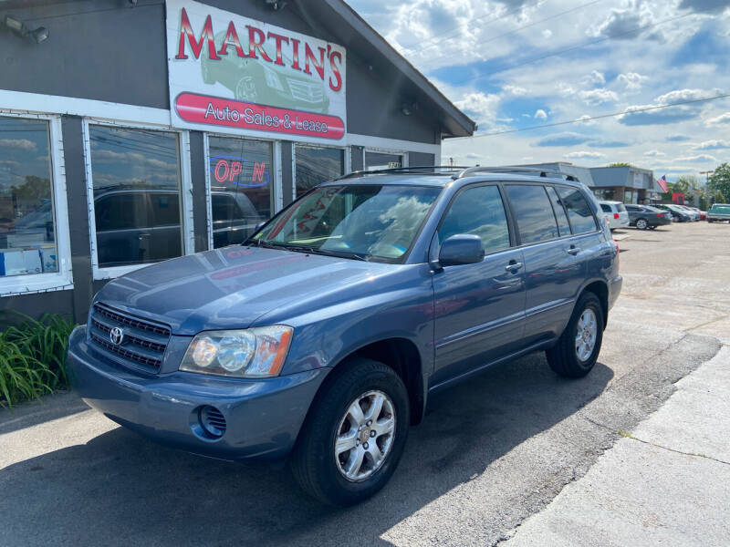 2003 Toyota Highlander for sale at Martins Auto Sales in Shelbyville KY