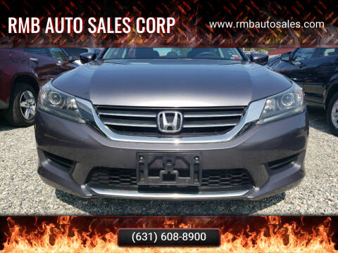 2014 Honda Accord for sale at RMB Auto Sales Corp in Copiague NY