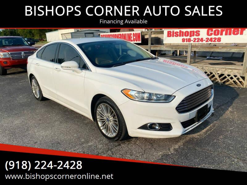 2014 Ford Fusion for sale at BISHOPS CORNER AUTO SALES in Sapulpa OK