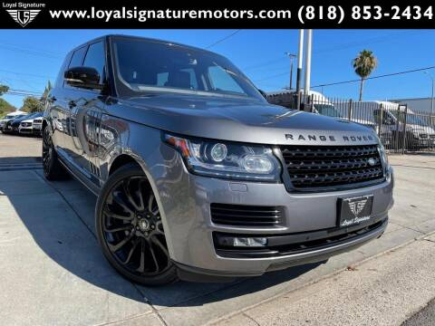 2016 Land Rover Range Rover for sale at Loyal Signature Motors Inc. in Van Nuys CA