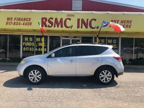 2012 Nissan Murano for sale at Ron Self Motor Company in Fort Worth TX