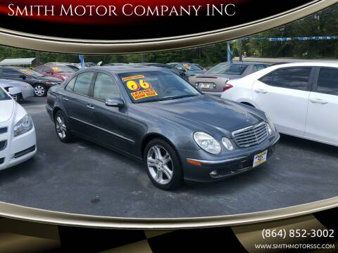 2006 Mercedes-Benz E-Class for sale at Smith Motor Company INC in Mc Cormick SC