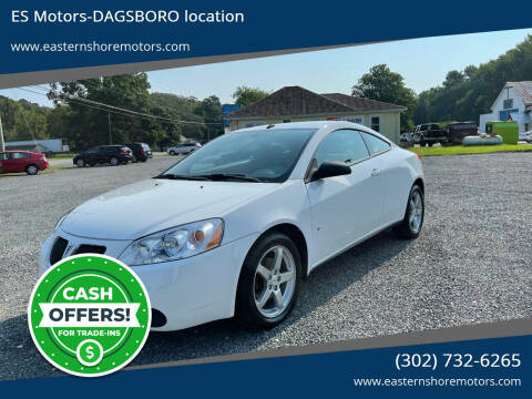 2009 Pontiac G6 for sale at ES Motors-DAGSBORO location in Dagsboro DE