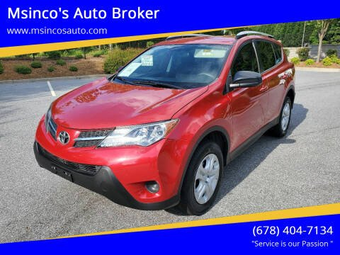 2014 Toyota RAV4 for sale at Msinco's Auto Broker in Snellville GA