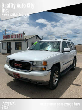 2003 GMC Yukon for sale at Quality Auto City Inc. in Laramie WY