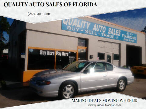 2002 Chevrolet Monte Carlo for sale at QUALITY AUTO SALES OF FLORIDA in New Port Richey FL