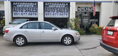 2008 Hyundai Sonata for sale at Affordable Imports Auto Sales in Murrieta CA