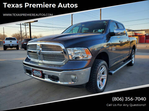 2017 RAM Ram Pickup 1500 for sale at Texas Premiere Autos in Amarillo TX