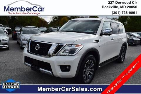 2017 Nissan Armada for sale at MemberCar in Rockville MD