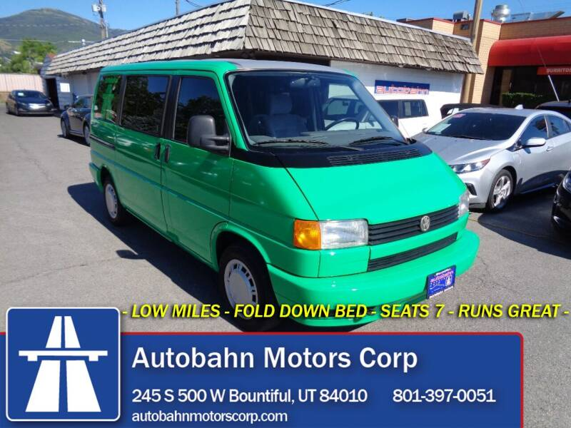 1993 Volkswagen EuroVan for sale at Autobahn Motors Corp in Bountiful UT