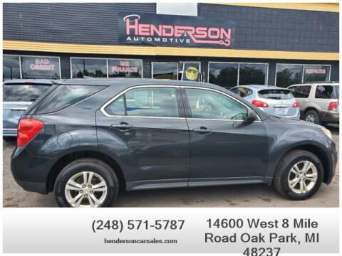 2013 Chevrolet Equinox for sale at Henderson Automotive, LLC in Oak Park MI