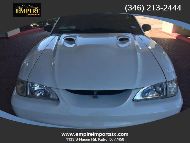 1998 Ford Mustang SVT Cobra for sale at EMPIREIMPORTSTX.COM in Katy TX