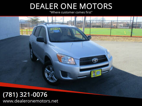 2012 Toyota RAV4 for sale at DEALER ONE MOTORS in Malden MA