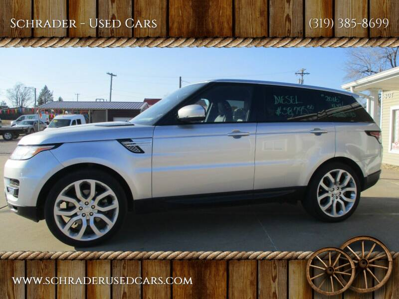 2016 Land Rover Range Rover Sport for sale at Schrader - Used Cars in Mt Pleasant IA