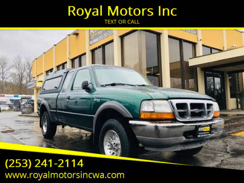 1999 Ford Ranger for sale at Royal Motors Inc in Kent WA