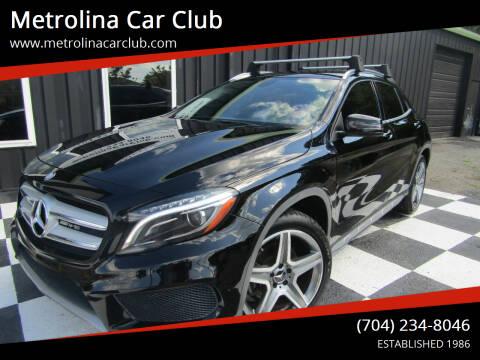 2015 Mercedes-Benz GLA for sale at Metrolina Car Club in Matthews NC