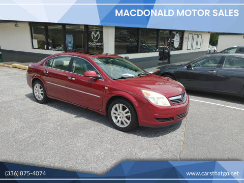 2009 Saturn Aura for sale at MacDonald Motor Sales in High Point NC