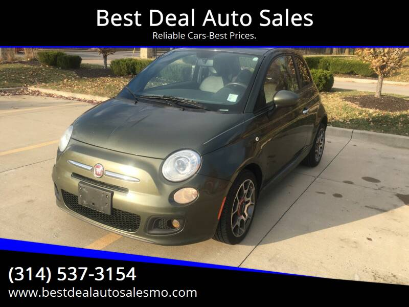 2013 FIAT 500 for sale at Best Deal Auto Sales in Saint Charles MO