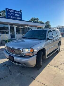 2004 GMC Yukon for sale at Right Away Auto Sales in Colorado Springs CO