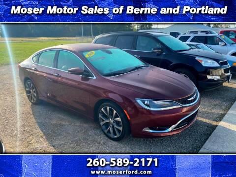 2016 Chrysler 200 for sale at Moser Motors Of Portland in Portland IN